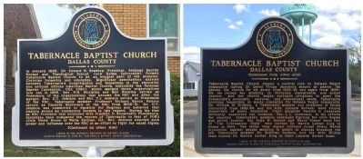 Tabernacle Baptist Church Marker image. Click for full size.
