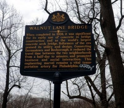 Walnut Lane Bridge Marker image. Click for full size.