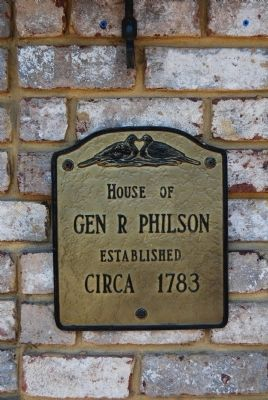 General Robert Philson House plaque image. Click for full size.