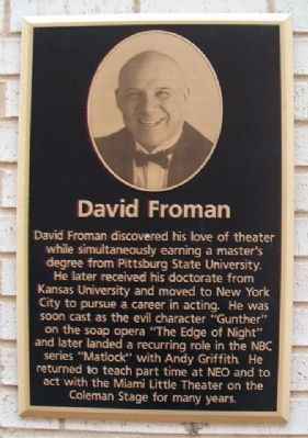 David Froman Marker image. Click for full size.