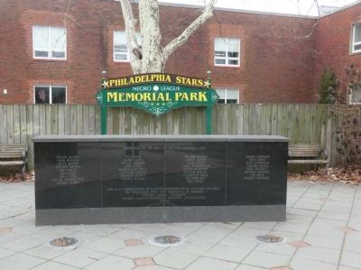 Philadelphia Stars Negro Leage Memorial Park image. Click for full size.