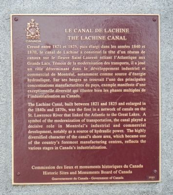 The Lachine Canal Marker image. Click for full size.