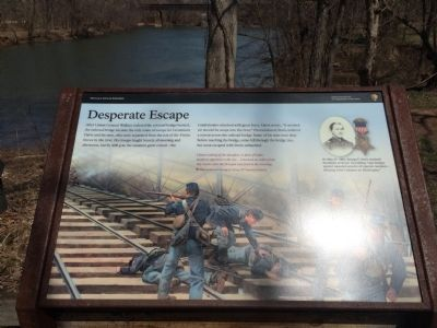 Desperate Escape Marker and Monocacy River Overlook image. Click for full size.