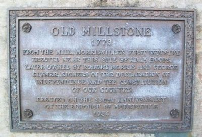 Old Millstone Marker image. Click for full size.