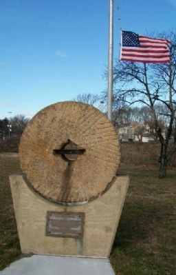 Old Millstone and Marker image. Click for full size.