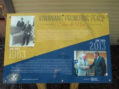 Kiwanians Promoting Peace Marker image. Click for full size.
