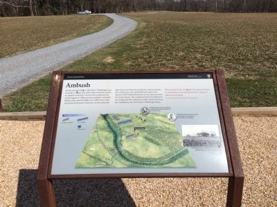 Ambush Marker looking toward the parking area image. Click for full size.