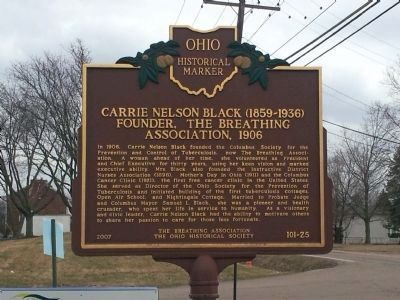 Carrie Nelson Black Face of Marker image. Click for full size.