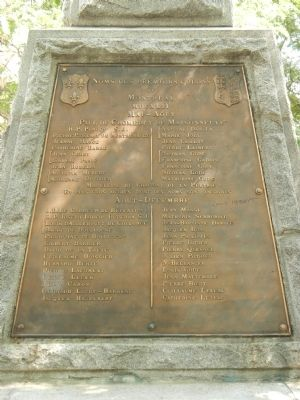 Montr�al�s Founders and First Colonists Monument, Early Colonists panel image. Click for full size.
