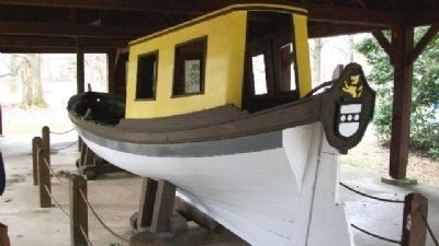 William Penn's Barge (reproduction) at Boat House image. Click for full size.