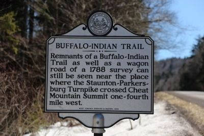 Buffalo-Indian Trail Side of Marker image. Click for full size.