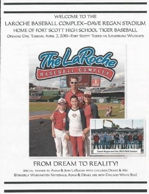Dave Regan Stadium Opening Day Program Cover image. Click for full size.