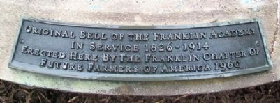 Original Bell of the Franklin Academy Marker image. Click for full size.