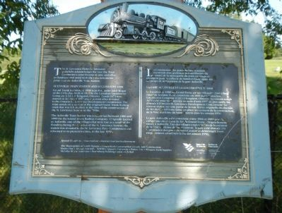 Aultsville Train Station and Locomotive 1008 Marker image. Click for full size.