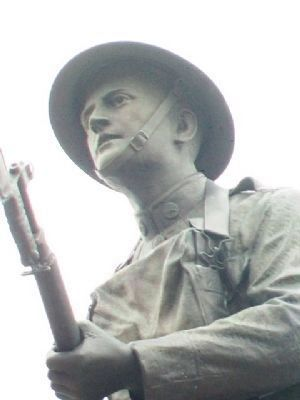 Doughboy Statue Detail image. Click for full size.