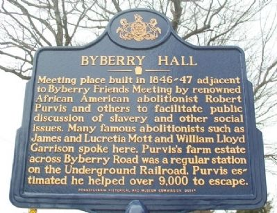 Byberry Hall Marker image. Click for full size.