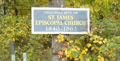 St. James Episcopal Church Marker image. Click for full size.