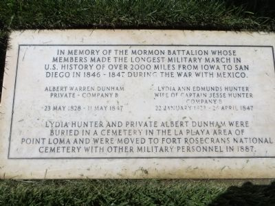 In Memory of the Mormon Battalion Marker image. Click for full size.