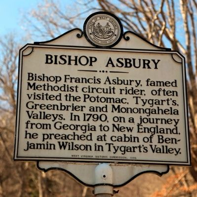 Bishop Asbury Marker image. Click for full size.