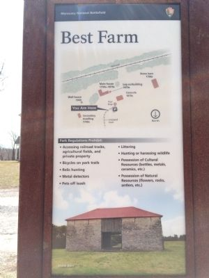 Nearby marker and map of the Best Farm image. Click for full size.