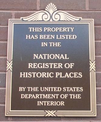 The First National Bank NRHP Marker image. Click for full size.
