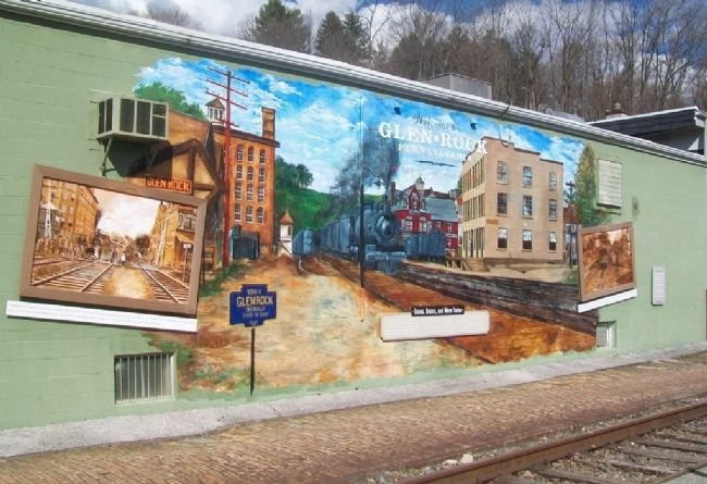 Trains, Grains, and More Trains Mural image. Click for full size.
