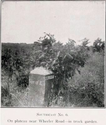 Original Federal Boundary Stone Southeast 6 image. Click for full size.