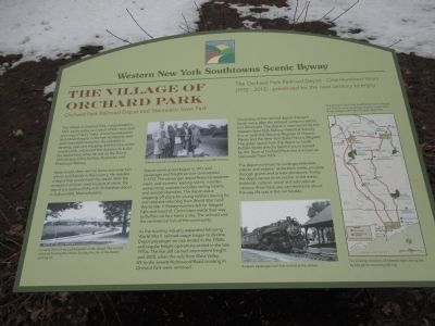 Village of Orchard Park Marker image. Click for full size.