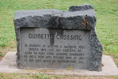 Quinette Crossing Marker image. Click for full size.