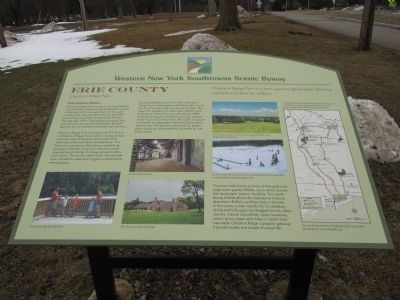 Erie County - Chestnut Ridge Park Marker image. Click for full size.