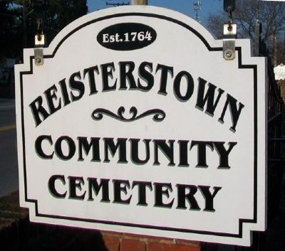 Reisterstown Community Cemetery Sign image. Click for full size.