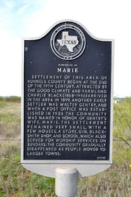 Townsite of Marie Marker image. Click for full size.