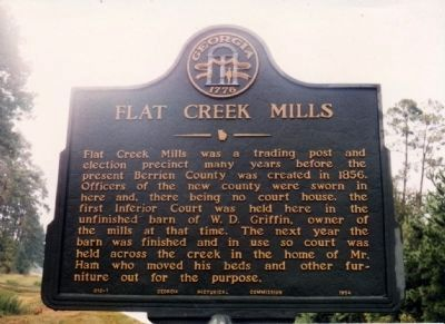 Flat Creek Mills Marker image. Click for full size.
