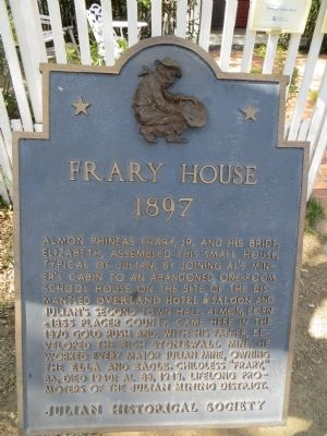 Frary House Marker image. Click for full size.