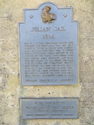 Julian Jail Marker image. Click for full size.