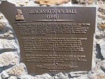 Descanso Town Hall Marker image. Click for full size.