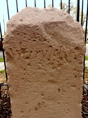 Original Federal Boundary Stone SE 1 image. Click for full size.