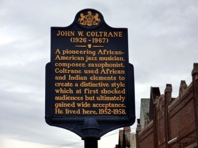 John W. Coltrane Marker image. Click for full size.