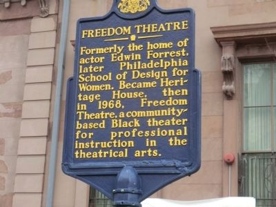 Freedom Theatre Marker image. Click for full size.