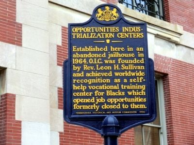 Opportunities Industrialization Centers Marker image. Click for full size.