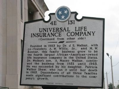 Universal Life Insurance Building Historic Marker image. Click for full size.