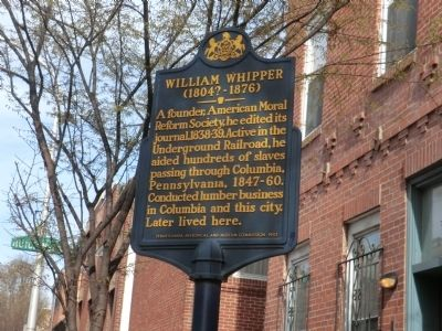 William Whipper Marker image. Click for full size.