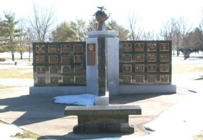 15th Troop Carrier Squadron Bench at Memorial Wall #2 image. Click for full size.