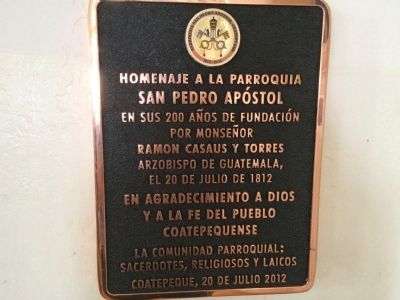 Additional marker inside San Pedro Apostol Church image. Click for full size.