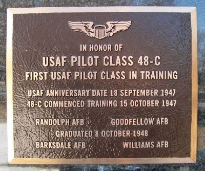 USAF Pilot Class 48-C Marker image. Click for full size.