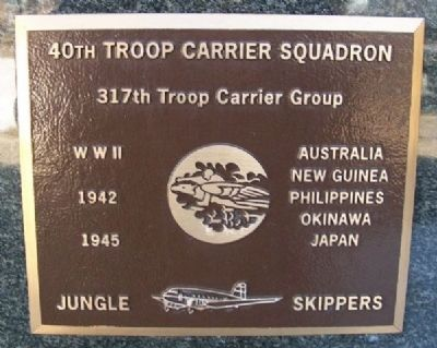 40th Troop Carrier Squadron / 317th Troop Carrier Group Marker image. Click for full size.