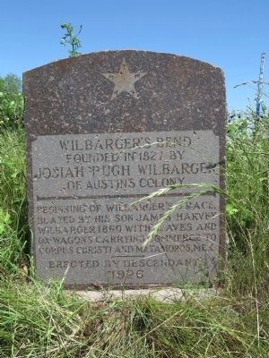 Wilbarger's Bend Marker image. Click for full size.