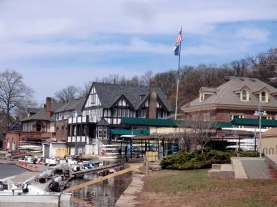 Boathouse Row-River side image. Click for full size.