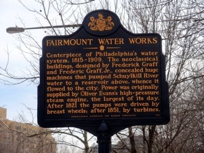 Fairmount Water Works Marker image. Click for full size.