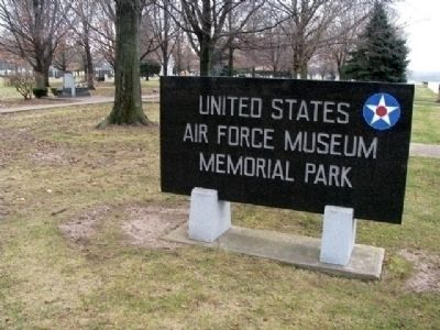 NMUSAF Memorial Park Sign image. Click for full size.